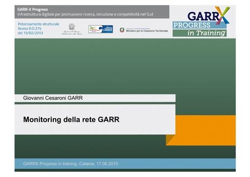 Monitoring della rete GARR - G.Cesaroni